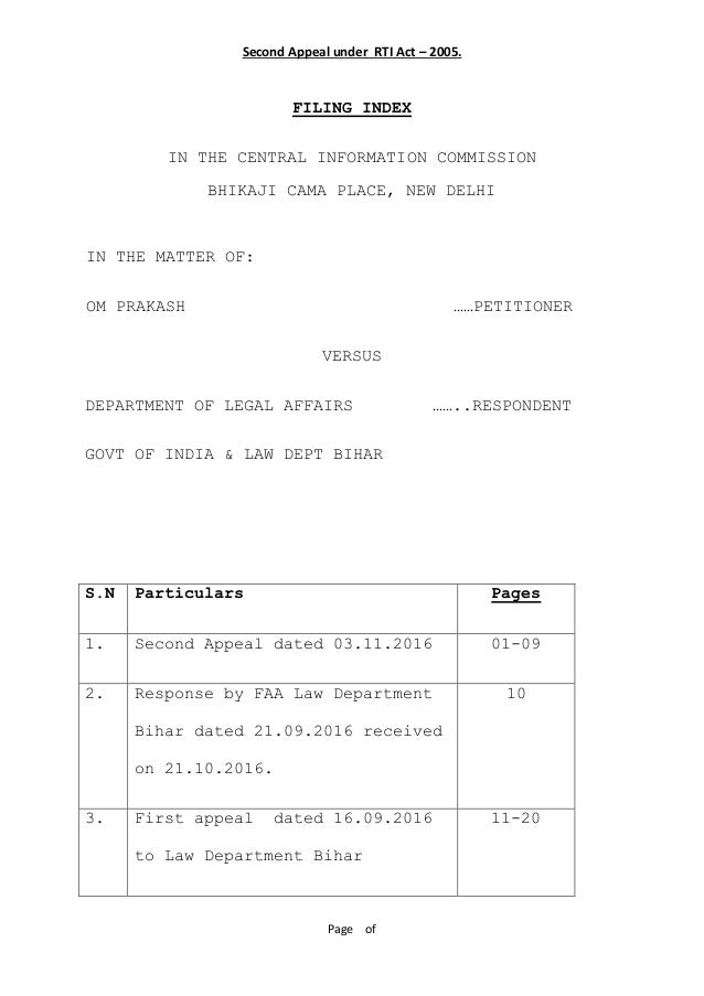 how to file application under rti act