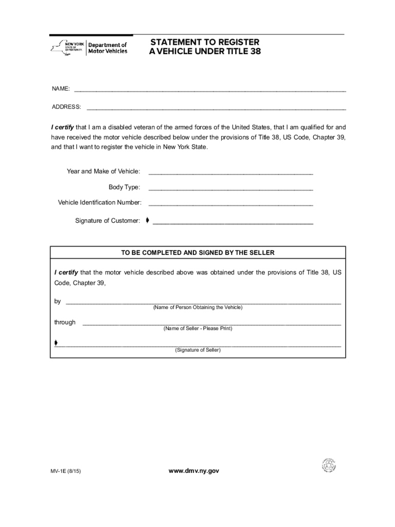 form of application for registration of a motor vehicle