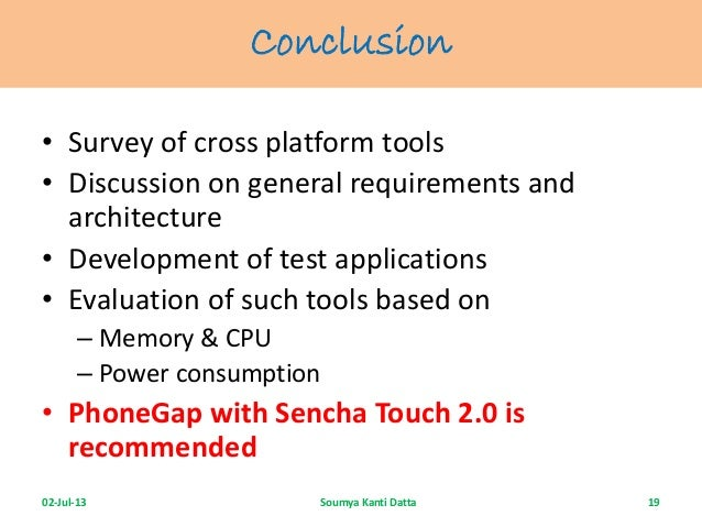 cross platform application development tools
