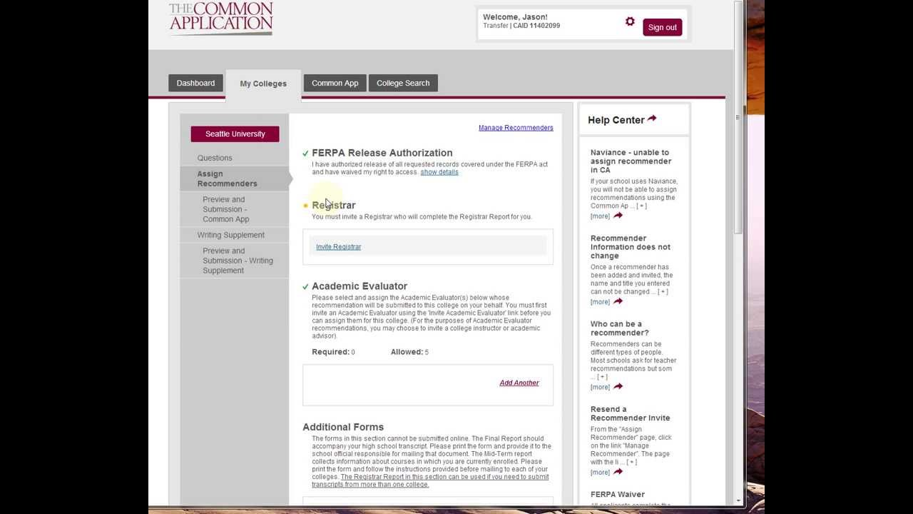 how to use the common application for college
