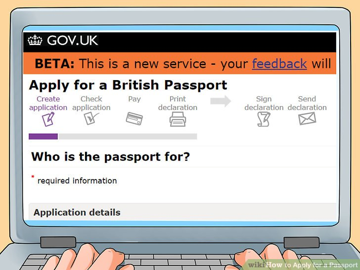post office passport application form online