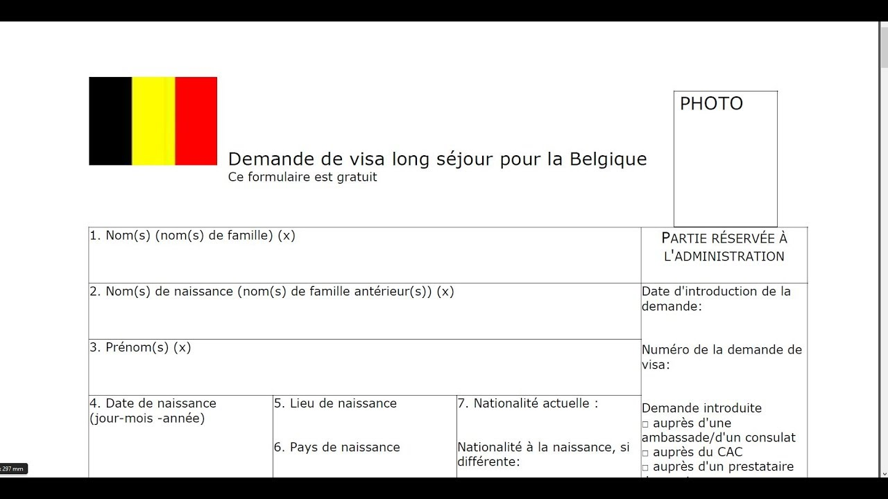 long stay schengen visa application form