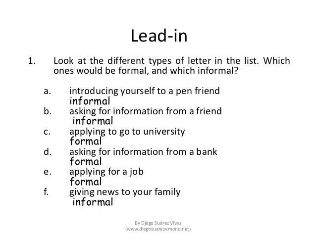 different kinds of application letter
