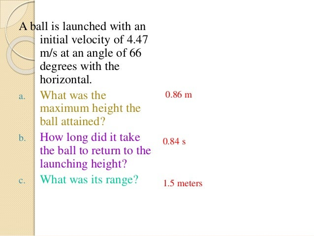 application of projectile motion in sports