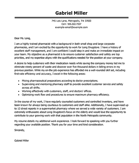cover letter for general application