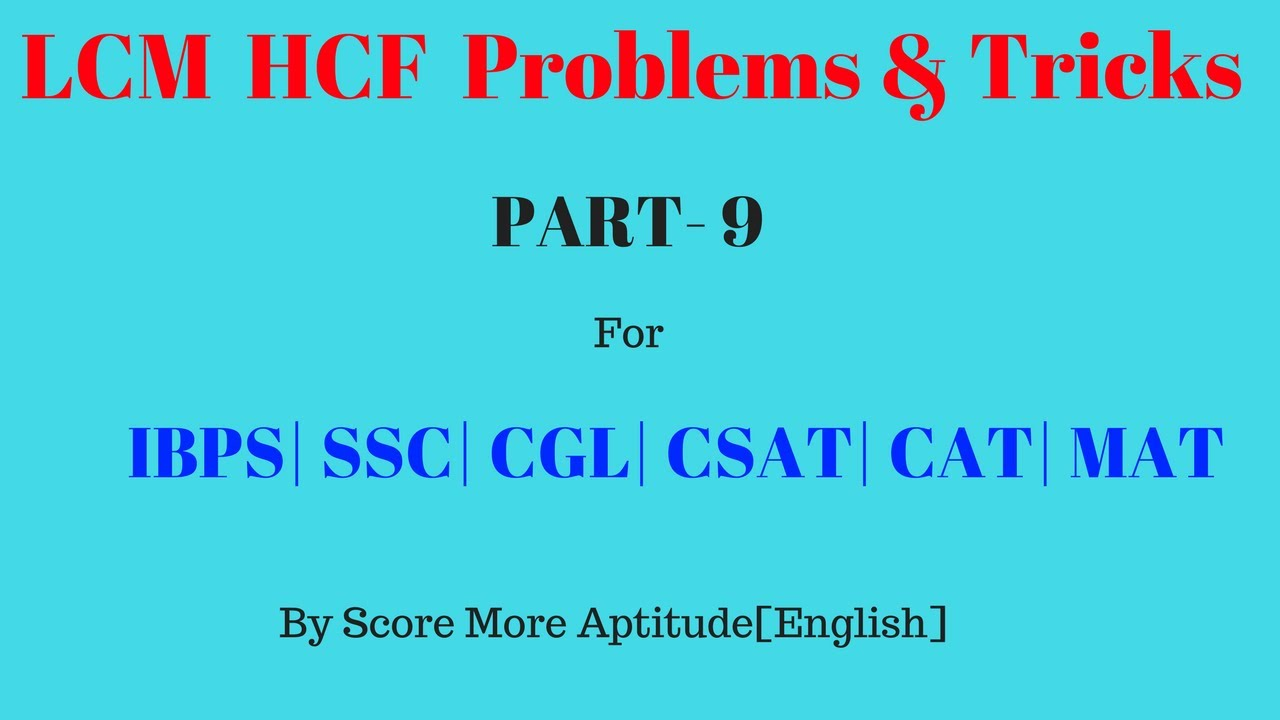 application of lcm and hcf