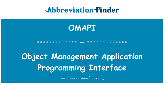 what is application programming interface