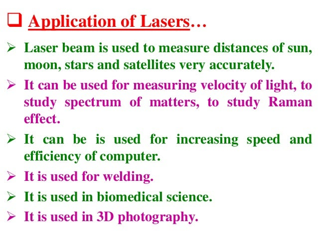 application of laser in engineering physics