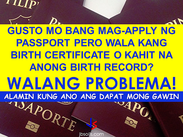 passport application without birth certificate