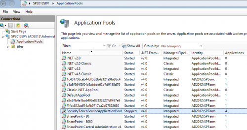 server error in application runtime error sharepoint 2013