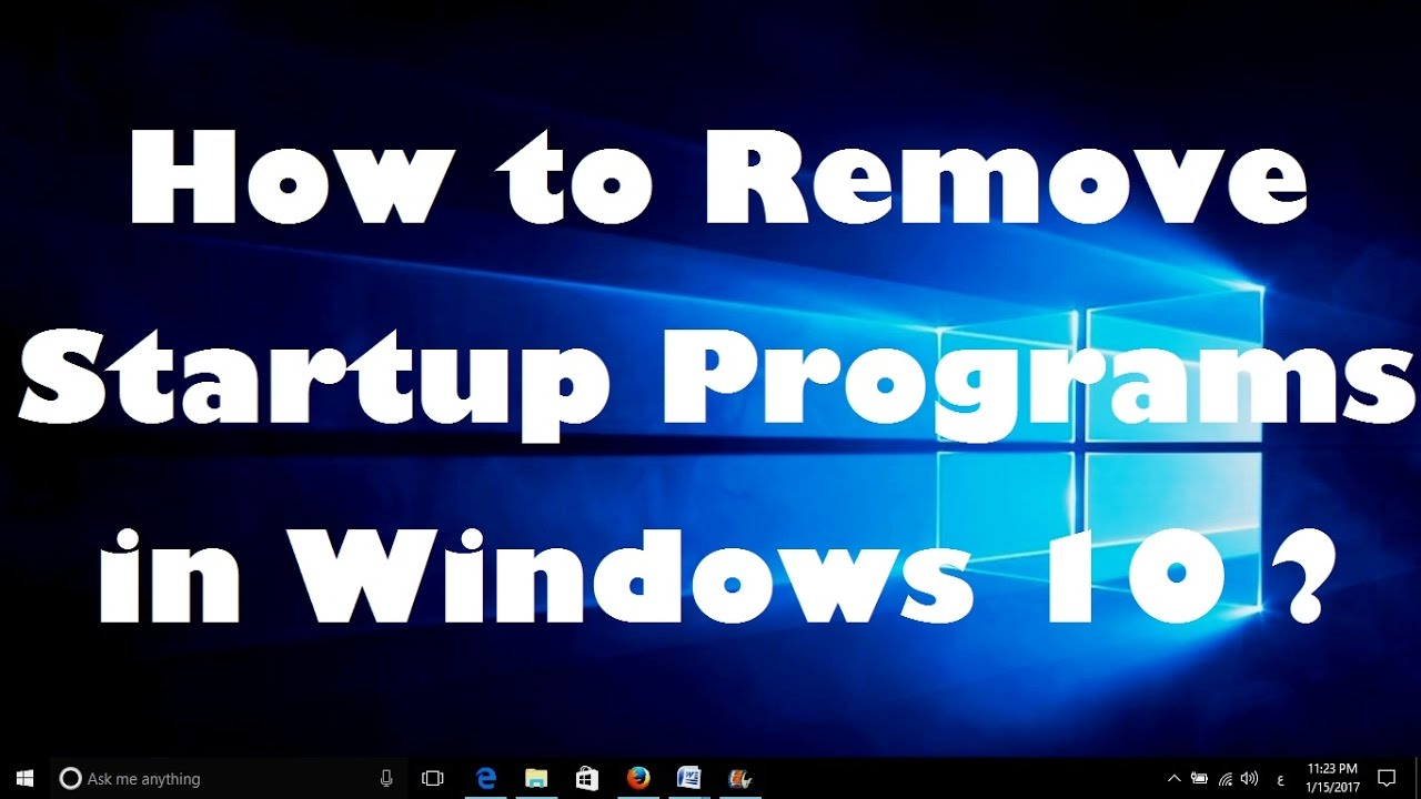 how to manage startup applications in windows 7