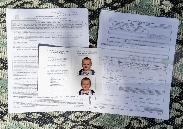 passport application form for baby