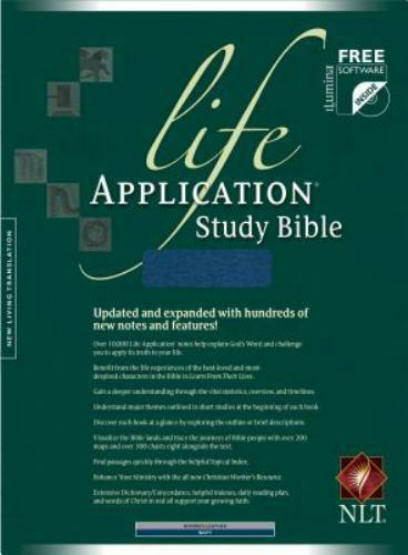 life application study bible nlt leather