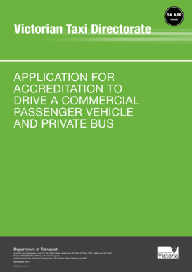 victorian taxi directorate application form
