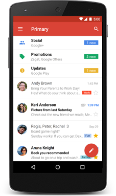 gmail application for windows phone