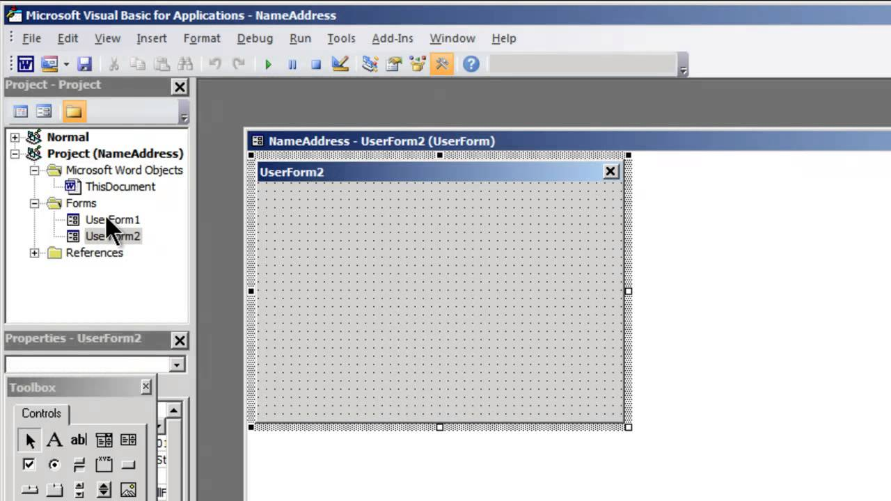 how to create application form in word