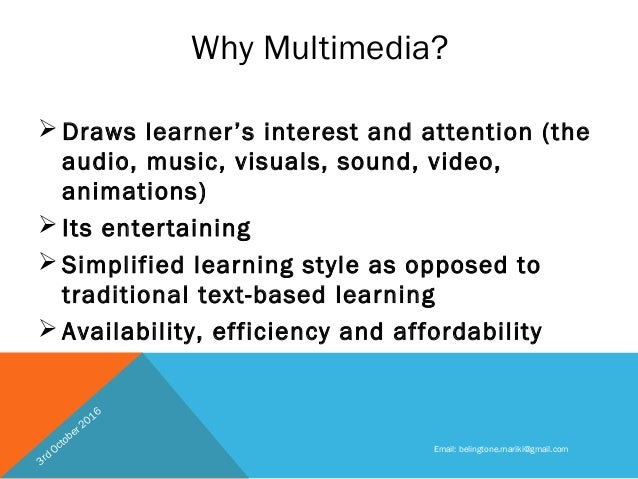 application of multimedia in education
