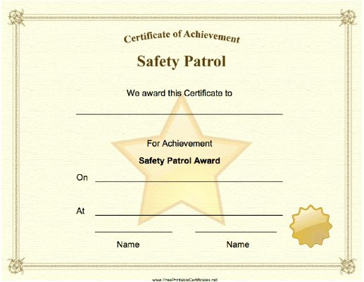 elementary school safety patrol application