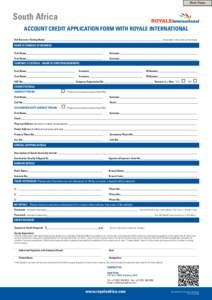 trade credit account application form