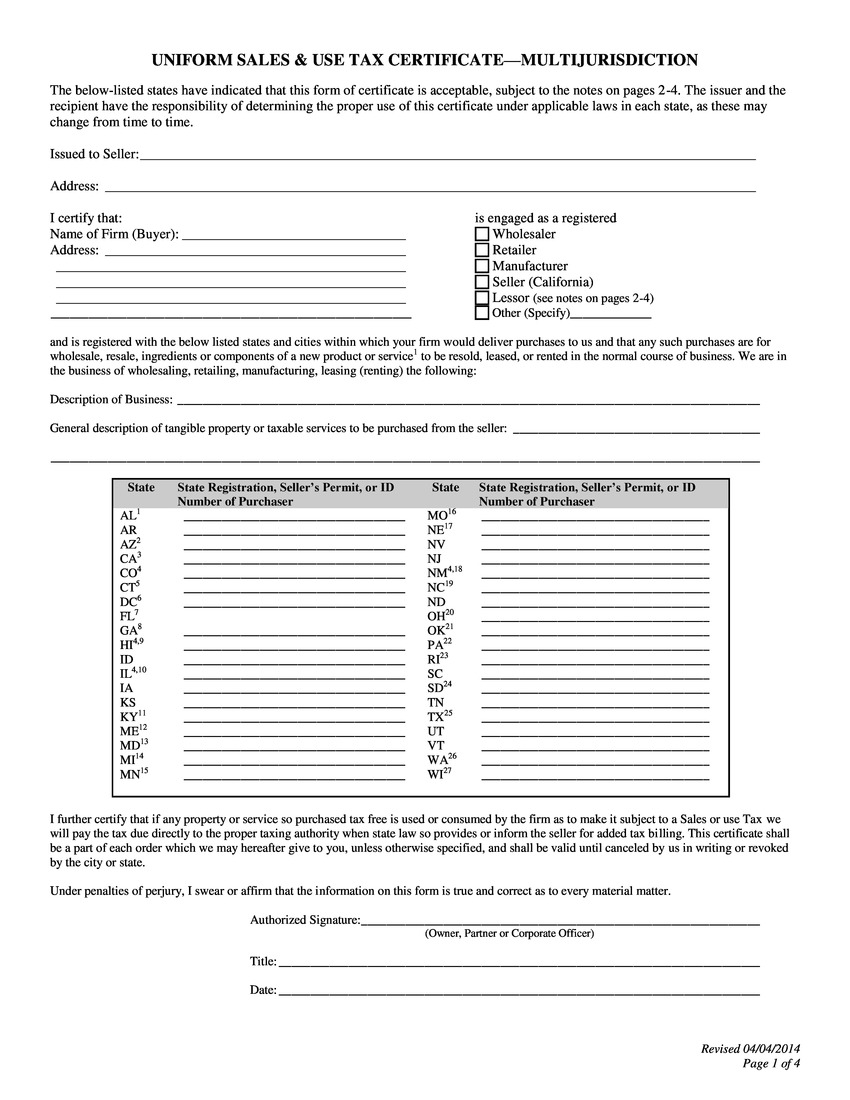 certificate of free sale application form