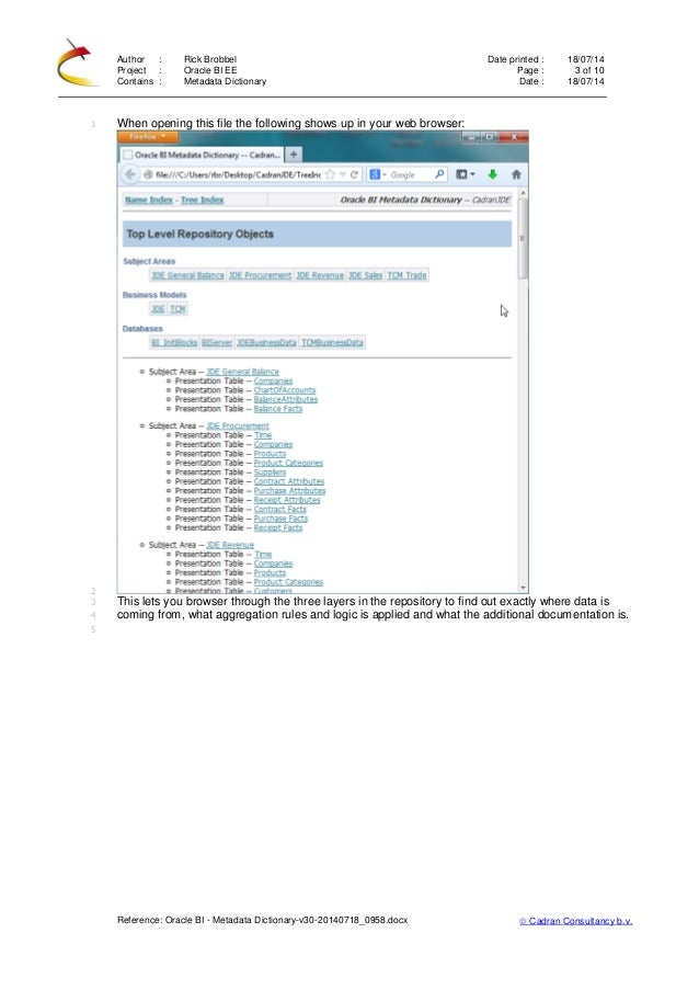 oracle business intelligence applications documentation