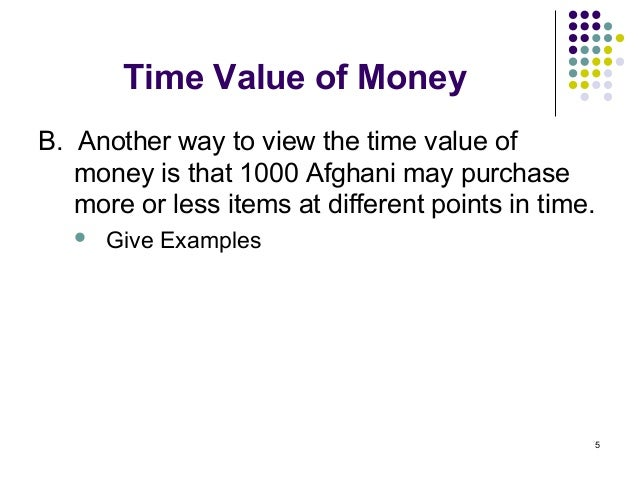 application of time value of money