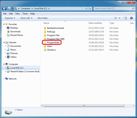 how to find application data folder in windows 7