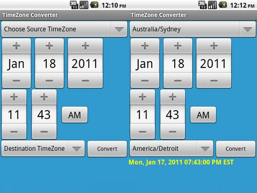 time zones application for desktop