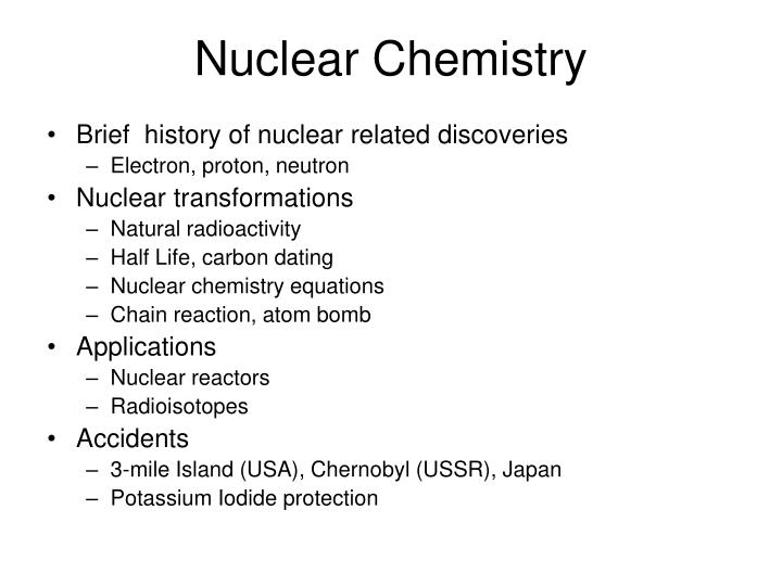 applications of nuclear chemistry ppt