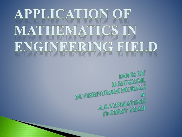 application of mathematics in civil engineering
