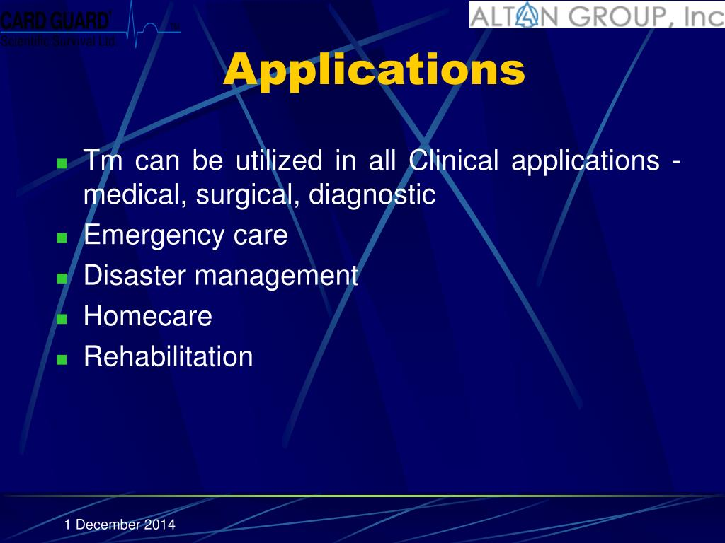 telemedicine technology and clinical applications