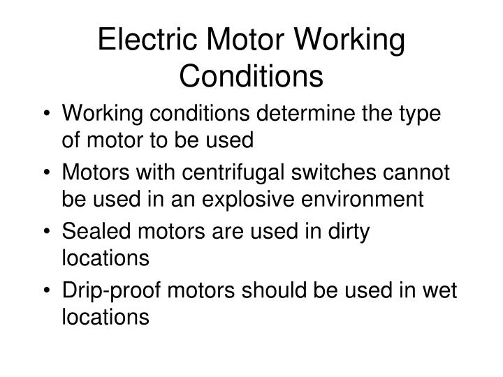 electric motor types and applications