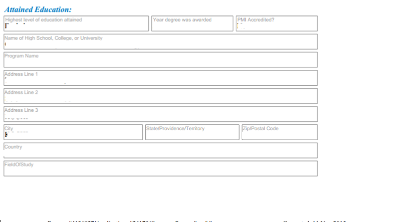 how to fill out pmp application form