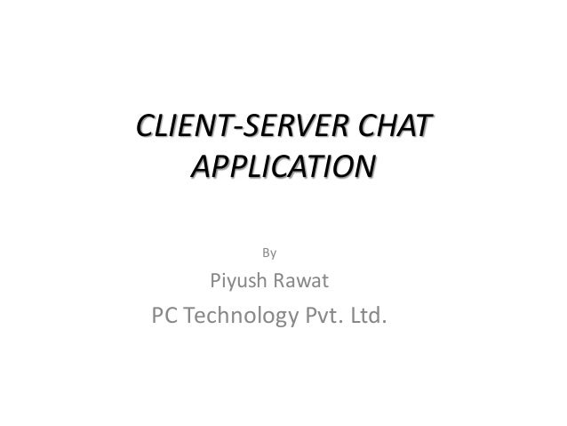 what is client server application