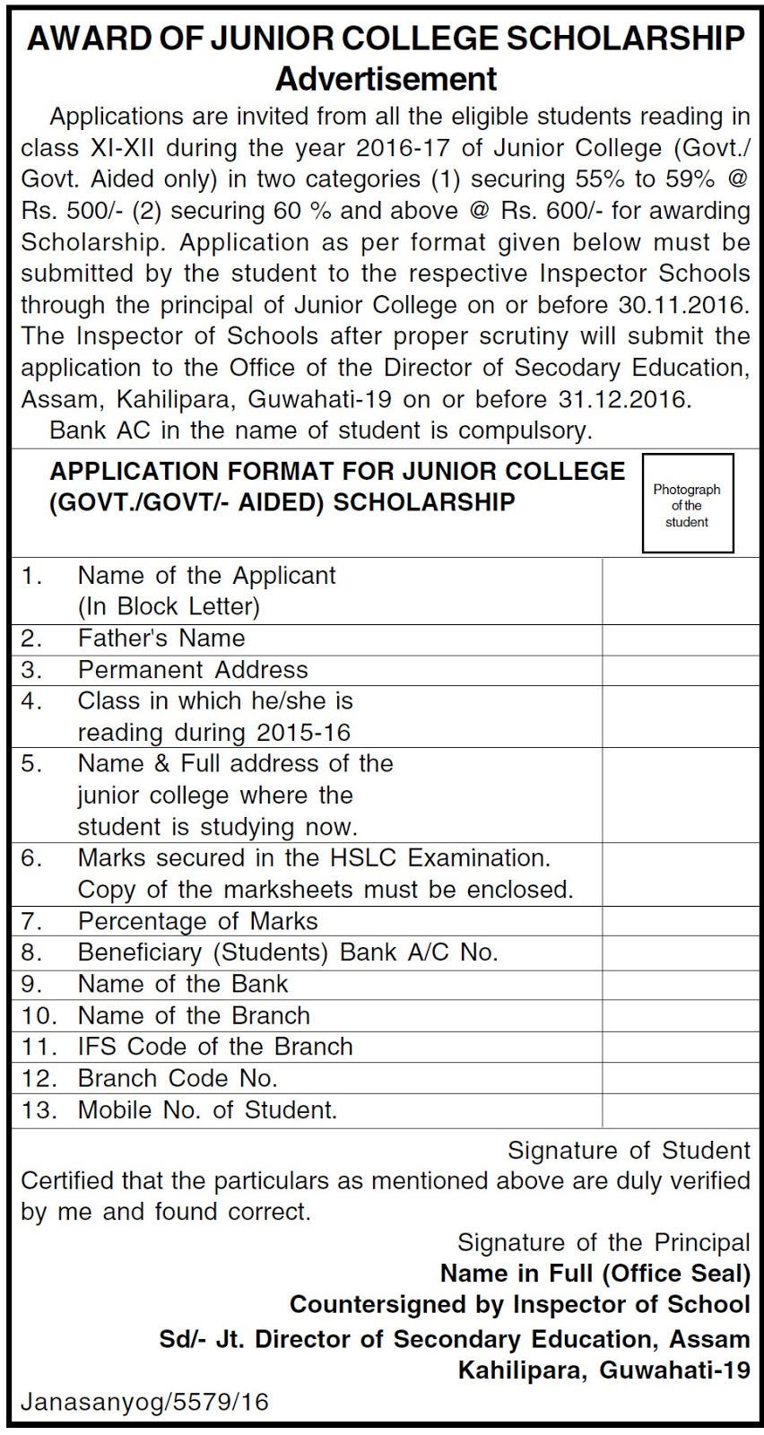 sandringham high school application forms
