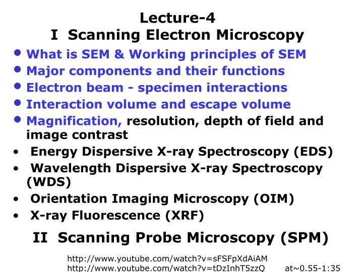 scanning electron microscopy principle and applications