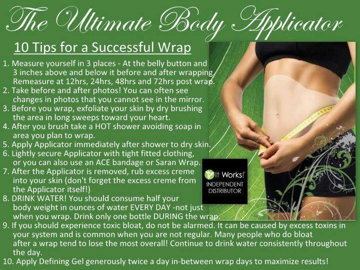 it works ultimate body applicator results