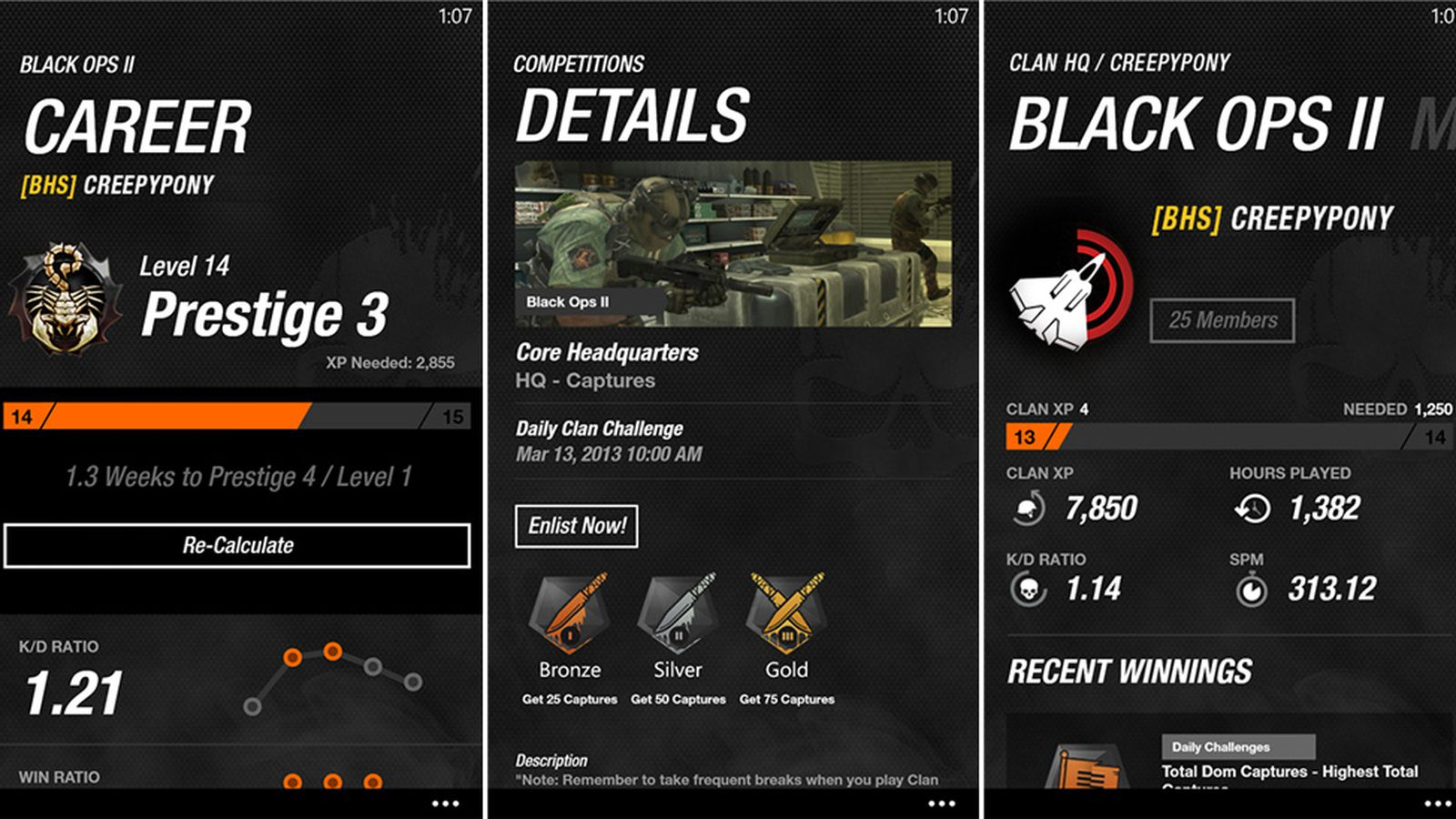 call of duty elite application
