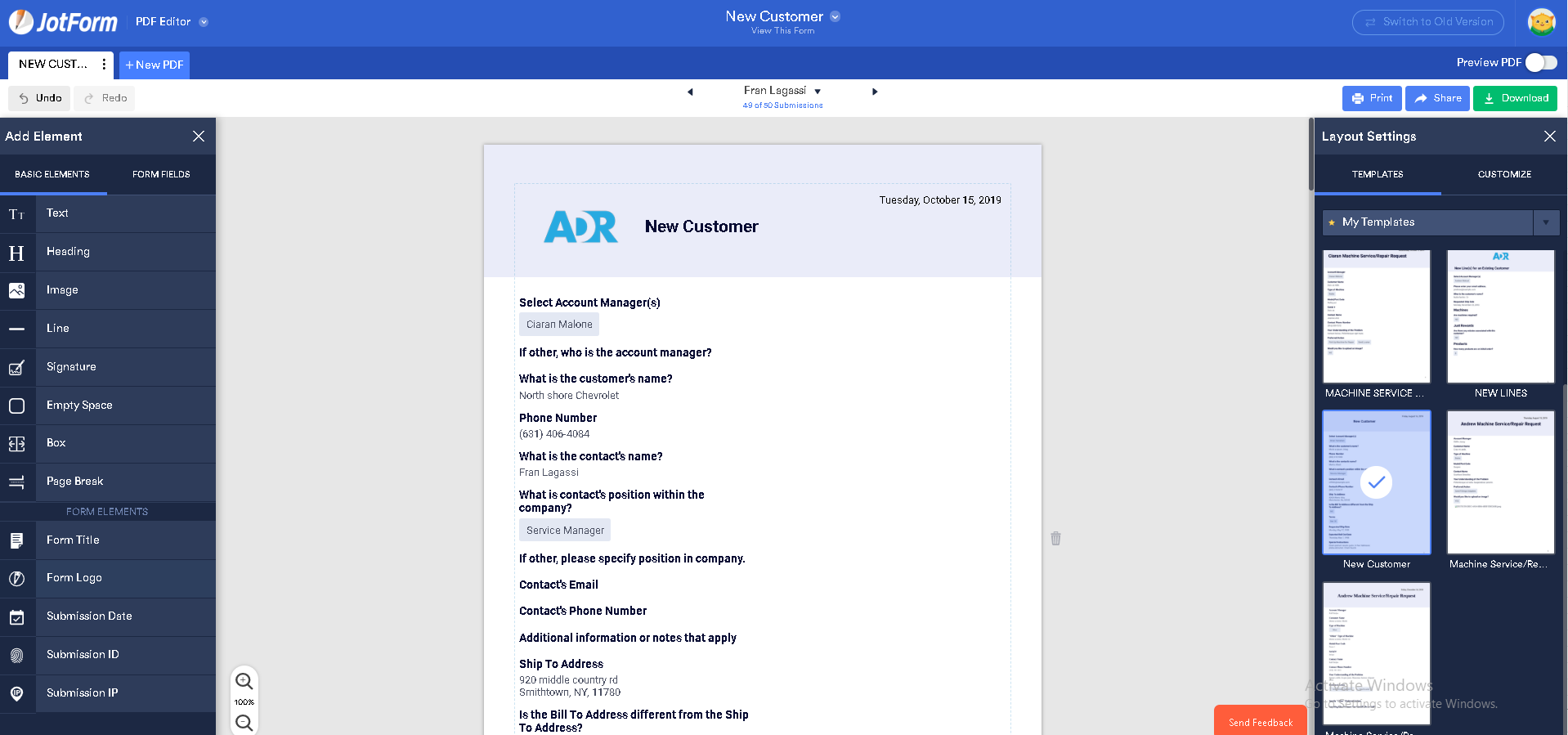 new customer credit application form template