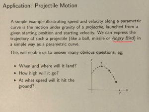 application of projectile motion in architecture