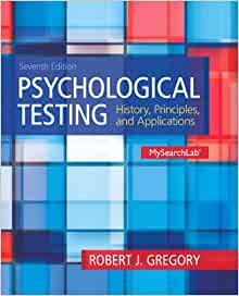 psychological testing history principles and applications gregory pdf
