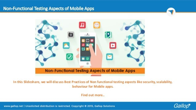 non functional testing mobile applications