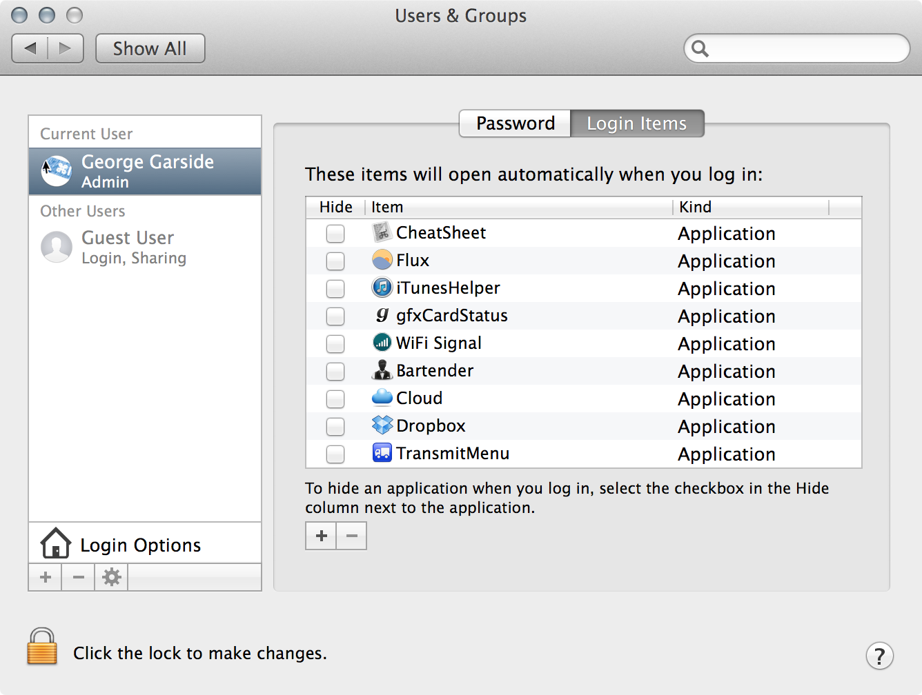 permissions differ on applications safari