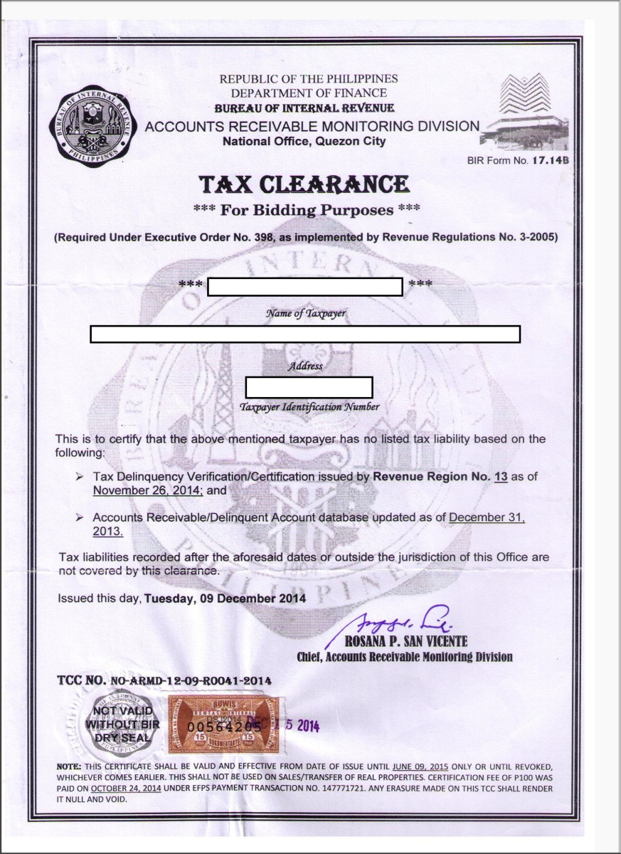 police clearance application form philippines
