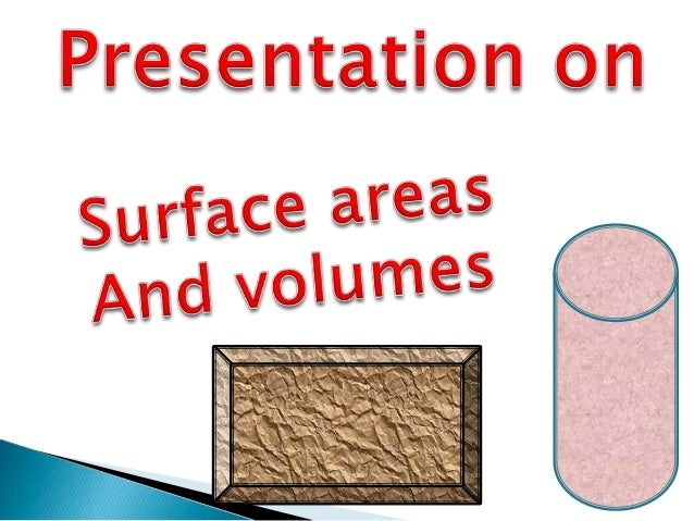 applications of surface area and volume in daily life ppt