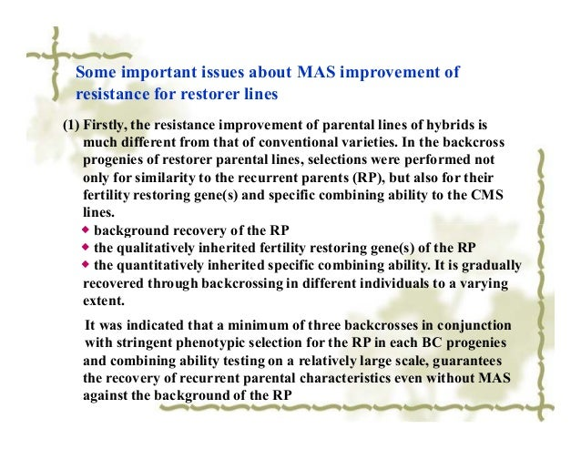 applications of molecular markers in crop improvement