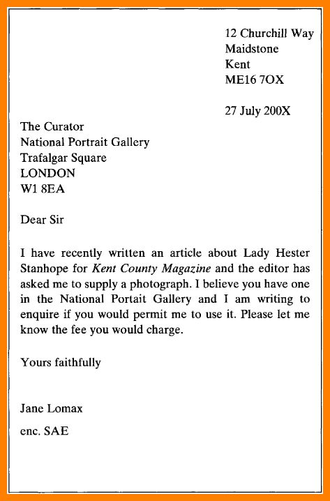 writing a formal application letter