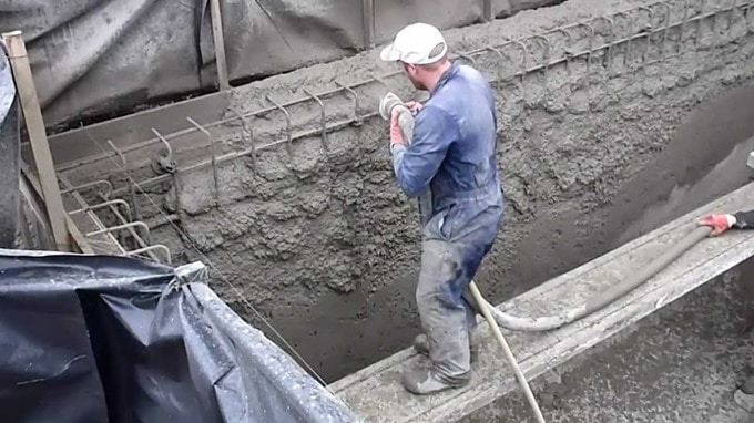 application of concrete in construction