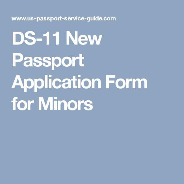 passport application form for minors