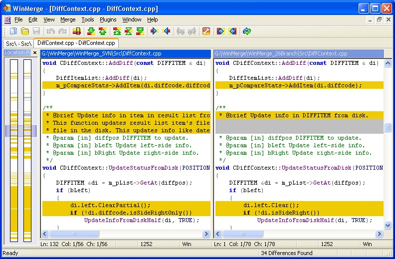 application to compare two text files